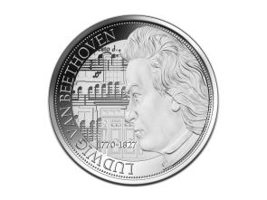 Silbermedaille 250 Geburtstag Beethoven