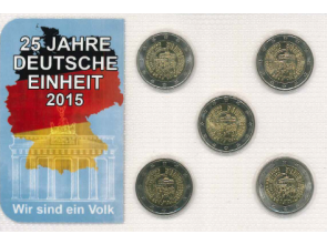 Münzset 25 Jahre Deutsche Einheit (2015)