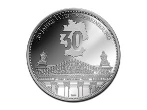 Silbermedaille 30 Jahre Wiedervereinigung