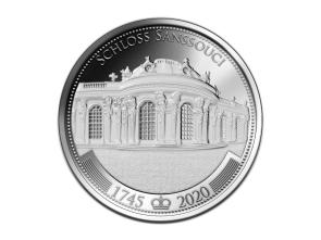 Silbermedaille 275 Jahre Schloss Sanssouci